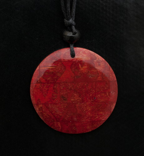 collier ethnique pendentif nacre bijoux fantaisie pas cher rouge bb584