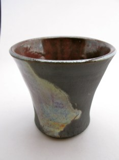 Lustrous Copper, showing both iridescence on outside, and copper red colour on inside
