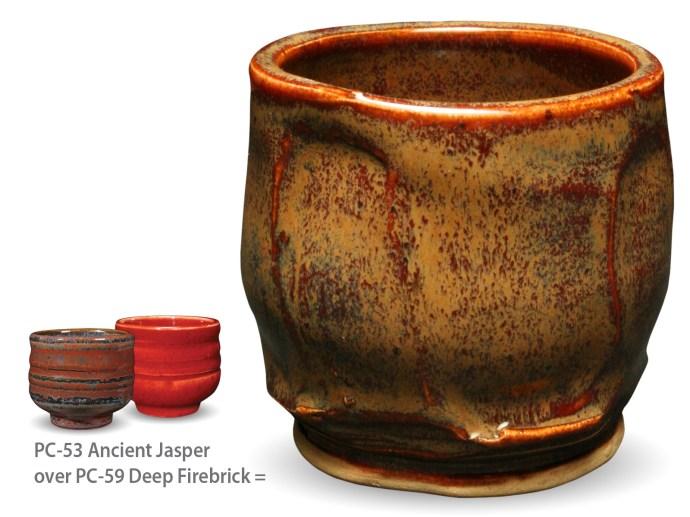 Ancient Jasper over PC59 Deep Firebrick
