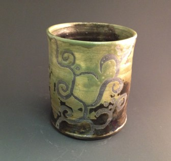 Copper Patina with wax resist decoration