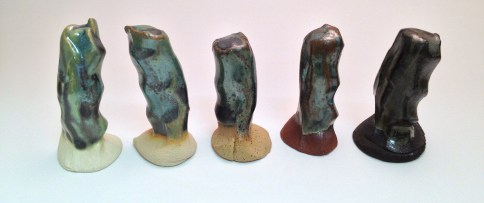 Gun Metal Green over (l-r) Flint Hills 5/6 Porcelain, Flint HIlls Buff, Standard 112, Laguna SB Red, Standard 266