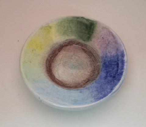 AMACO Chalks over low fire white glaze