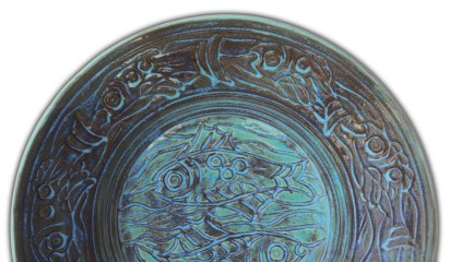 From the AMACO Website, George Dibikey plate, O-20 Bluebell over V366