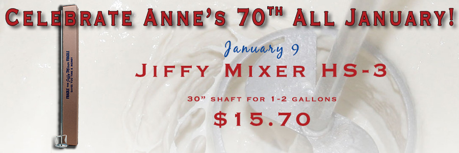Anne's 70th - Jiffy Mixer HS-3