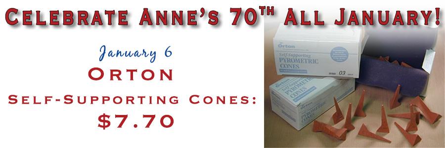 Anne's 70th - Orton Self-Supporting Cones