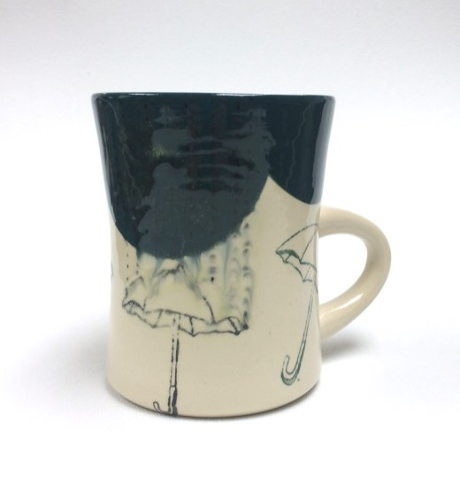 "umbrella mug with lithium wash, 4x3.5x5"" 2014"