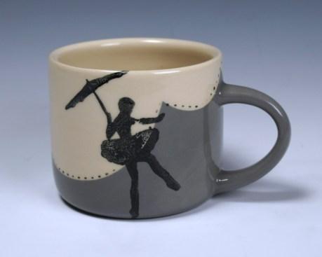 """high-wire ballerina mug, 2.5x3x5"""" 2014"""