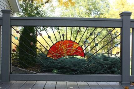 Art Glass Deck Panels: Sun Hills (5ft)