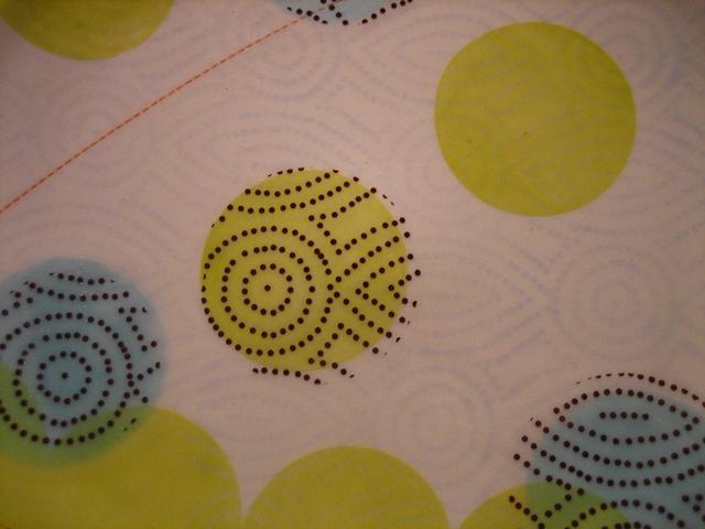 """Dot Dot Diamond Dot Dinner Plate (detail) 2010 Porcelain 1.5"""" x 12"""" x 12"""""""