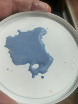 light blue! Teacher's palette glazes mix well together!