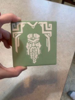 Dave made a green tile of himself as a dwarf