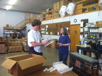 with Dave in the Warehouse