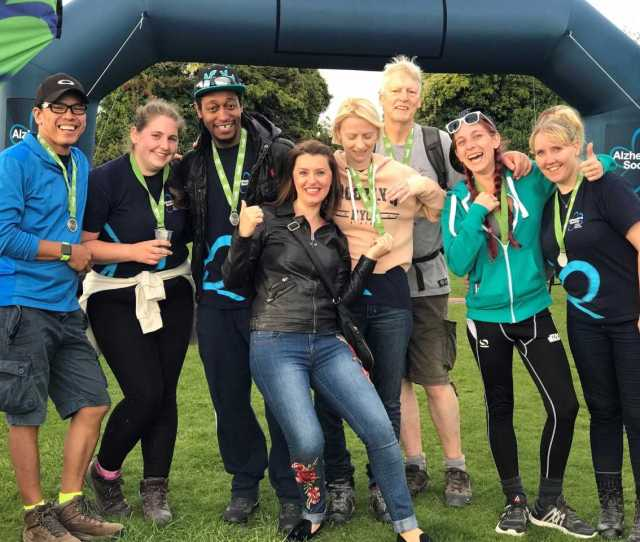Care Team Completes Mammoth Trek To Raise Thousands For Alzheimers Charity