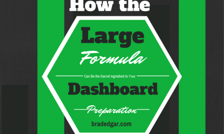 How the Large Formula Can Be The Secret Ingredient To Your Dashboard Preparation