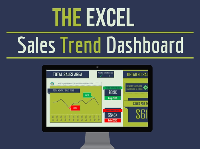 The Excel Sales Trend Dashboard Image