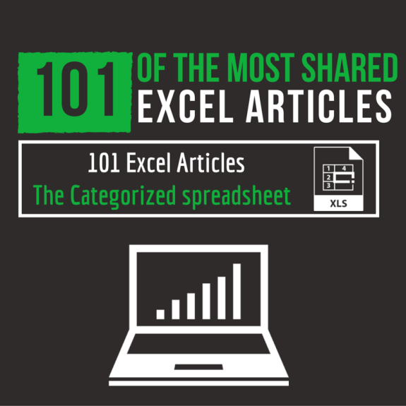 101 Of the Most Shared Excel Articles