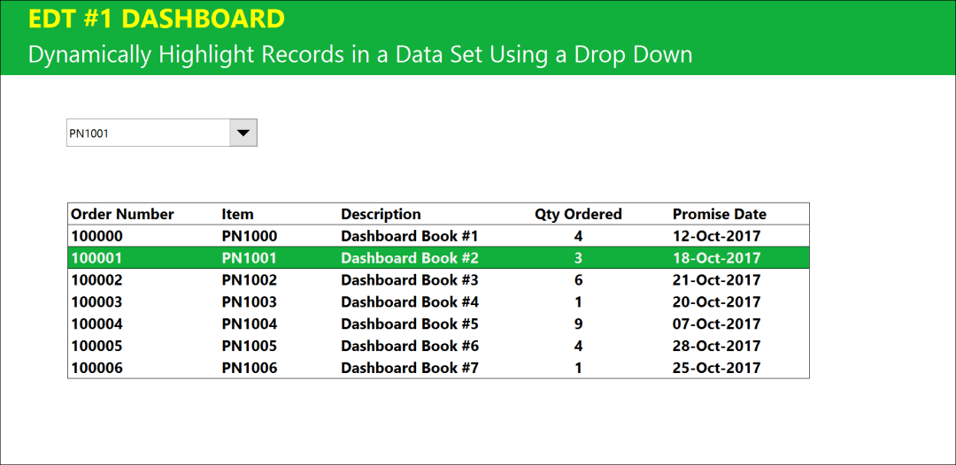 Dynamically highlight records