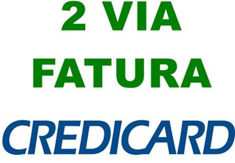 Fatura Credicard 2 via pela internet