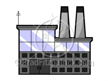 Cartoon Factory Clipart Picture Royalty Free Factory