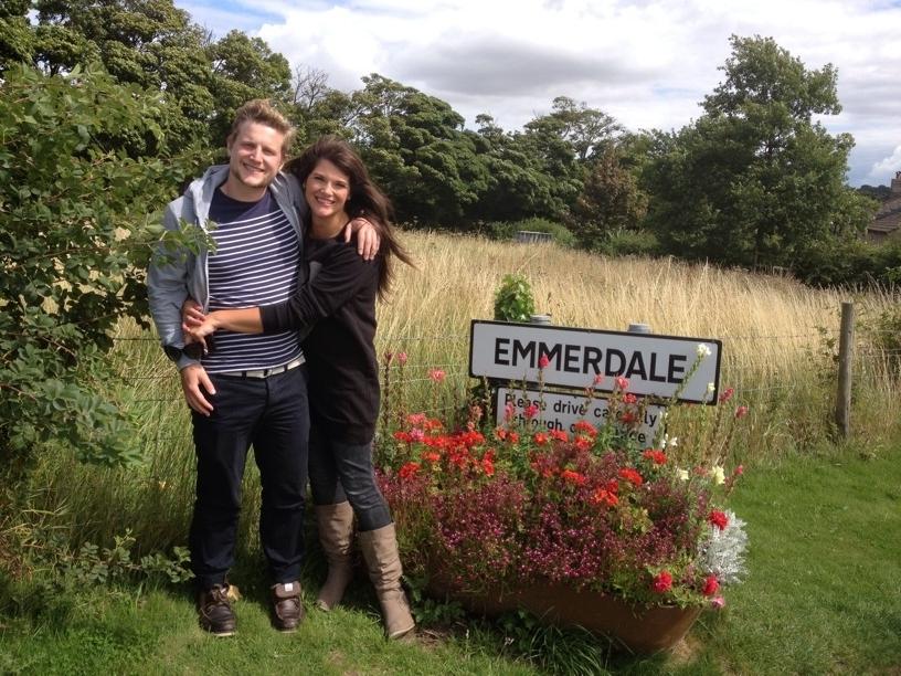 Rachael Delaney On Emmerdale Set