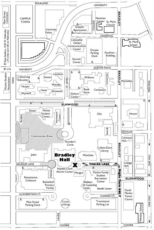 Bradley University Map Campus