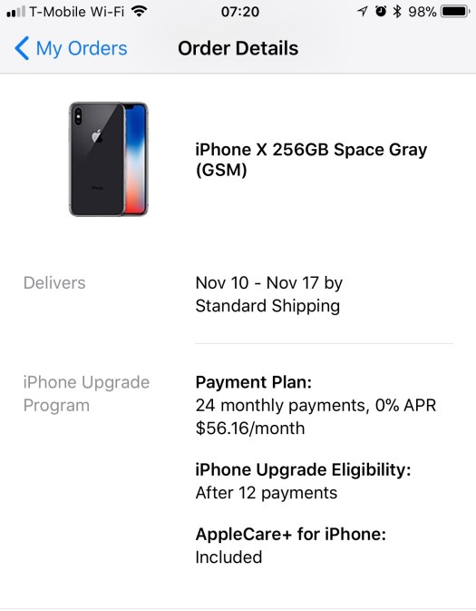 iPhone X order