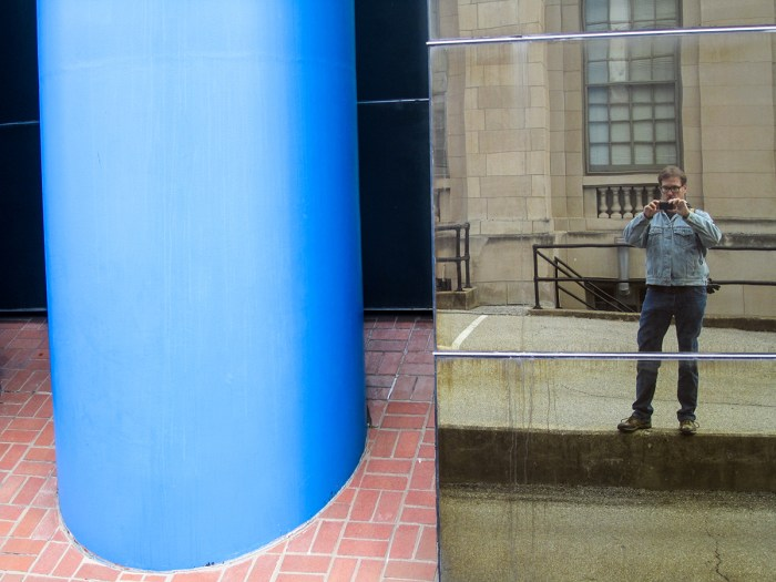 January 22nd. Me in a mirrored building. Columbus, IN.