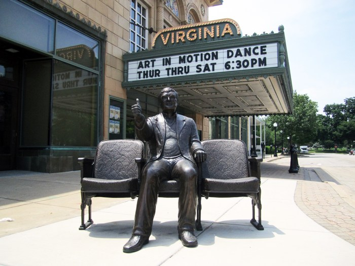 June 5th: Roger Ebert sculpture (Urbana, IL)