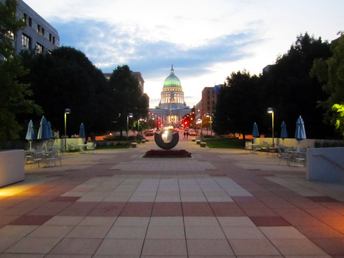 July 3rd: Capital building at dusk in Madison, WI
