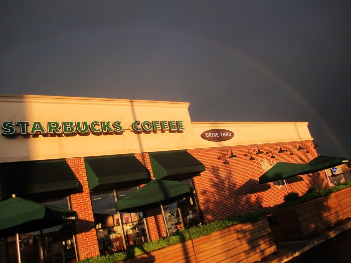 July 8th: Starbucks rainbow