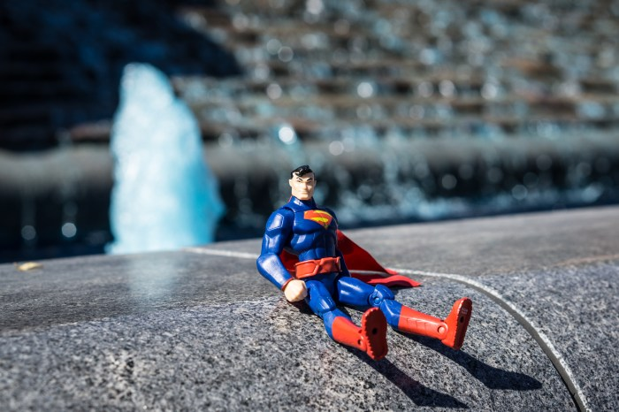Superman on a fountain