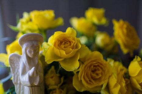 Oct. 11th: Flowers & Angel
