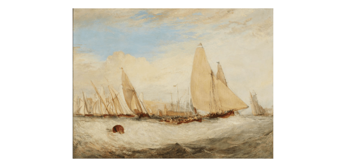 East Cowes Castle, the Seat of J. Nash, Esq., the Regatta Beating to Windward