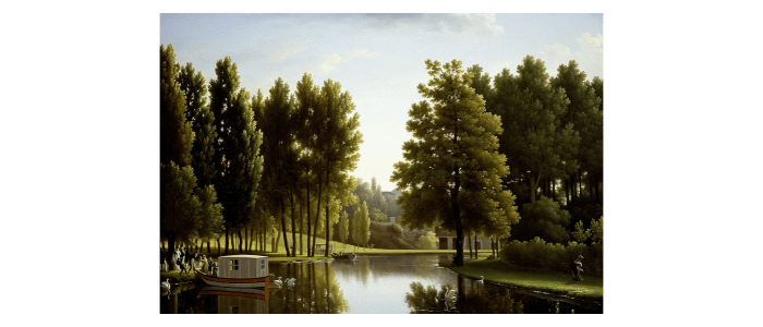 The Park at Mortefontaine by Jean Joseph Xavier Bidauld
