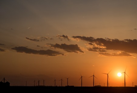 April 15: Windmills At Sunset