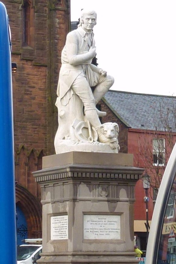 Statue of Robert Burns, Dumfries High Street © Geoff Kelland