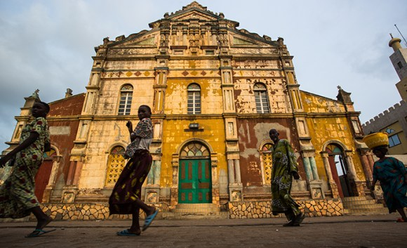 Grand Mosque Porto-Novo Benin by Stuart Butler