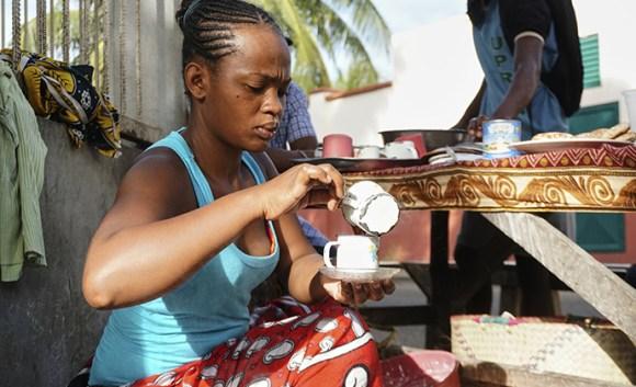 Coffee street cafe Antsiranana Madagascar by Nicole Motteux