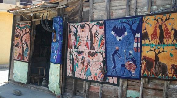 Batik shop Saint-Louis Senegal by Marco Muscara