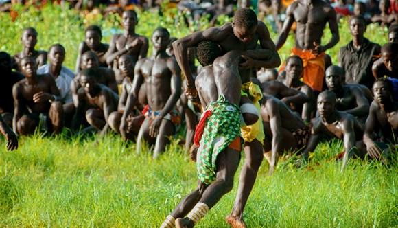 La lutte wrestling Senegal by Eduardo Huelin Dreamstime