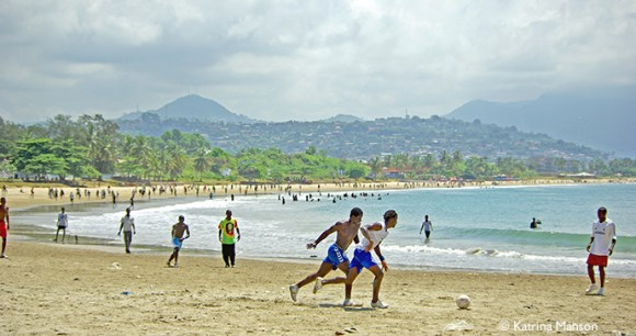 Freetown beach Sierra Leone by Katrina Manson