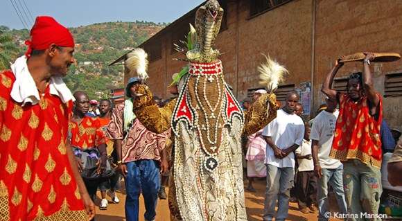 Dancing devil Easter in Sierra Leone by Katrina Manson