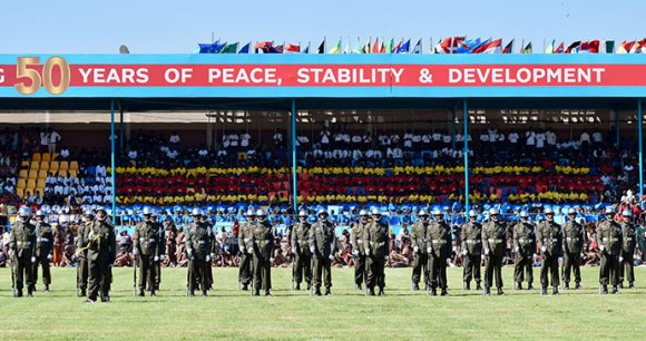 Soldiers, Mavuso Trade and Exhibition Centre, Swaziland by Sophie Ibbotson