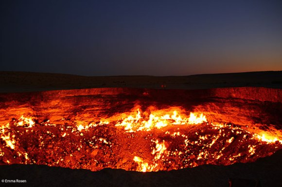 Darvaza Gas Crater by Emma Rosen