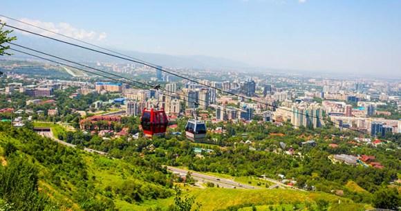 Kok-Tobe Almaty Kazakhstan by Dinozzzaver, Shutterstock