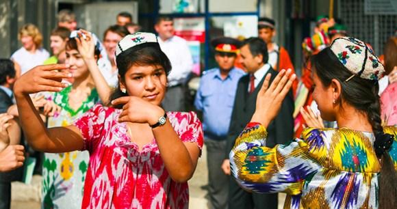 Girls dancing in Dushanbe, Tajikistan by Viktoria Gaman Shutterstock
