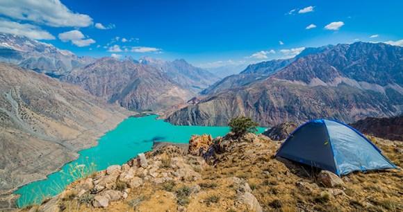 Iskanderkul Lake Tajikisitan by Alisher Primkulov Shutterstock