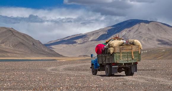 Truck Pamir Highway Tajikistan by Michal Knitl Shutterstock
