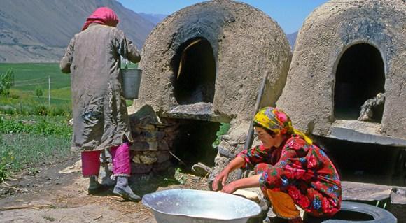 Bread making in Tajikistan by Pecold Shutterstock