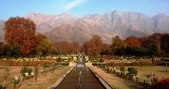 Nishat Bagh, one of the Mughal Gardens, Srinagar, Kashmir, India by J&K Tourism
